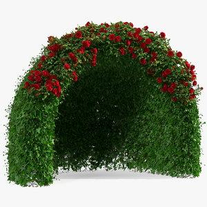 3D rose garden gazebo model