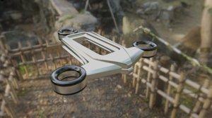 minimalist bladeless drone 3D model