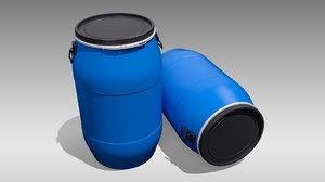 3D plastic barrel model