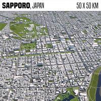 Sapporo Japan 50x50km