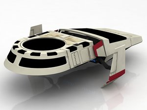 imperial shuttle lambda 3D model