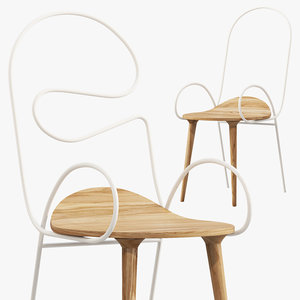 sylph chair deshaus 3 3D model