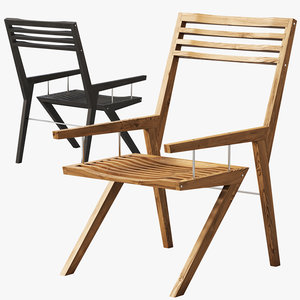3D bivalvia wooden chair