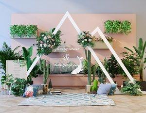 flower plants green 3D