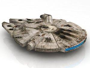 3D starwars falcon millennium