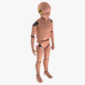 3D model child crash test dummy