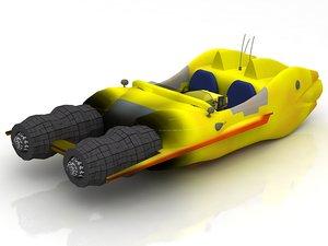3D airtaxi speeder air taxi model