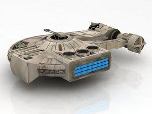 starwars falcon spaceship millennium 3D model