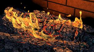 campfire flame 3D model