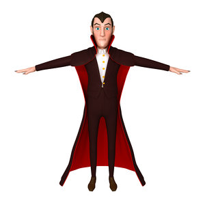 dracula cartoon 3D model