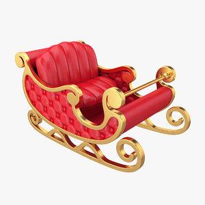 santa sleigh model