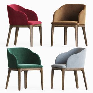 3D aubrey armchair dining chair model