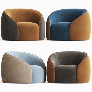 baloo armchair alivar 3D model