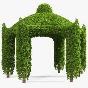 garden gazebo ivy 3D