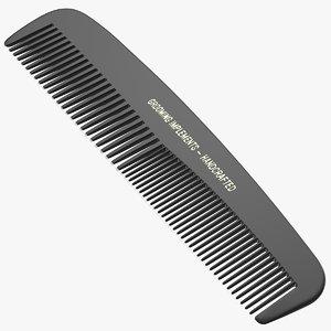 3D pocket comb black