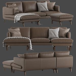 3D model maxdivani espirit corner sofa