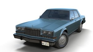 3D dodge diplomat 1980 model