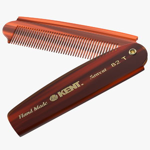 kent folding pocket comb 3D