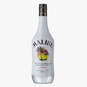 malibu original rum bottle 3D model