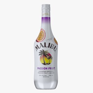 3D malibu passion fruit rum model