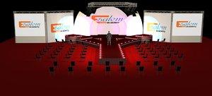 catwalk stage truth background model