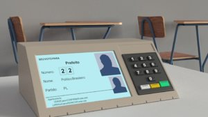3D brazilian electronic ballot model