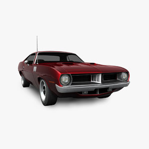 3D plymouth barracuda 1972
