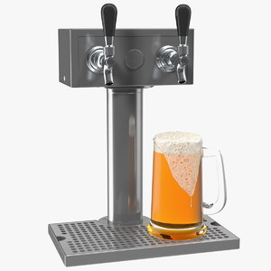 beer dispenser kegerator tower 3D