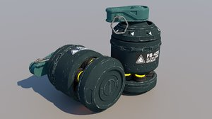 3D sci-fi grenade model