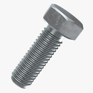 3D hex bolt 03 model