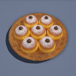 medieval pastry 3D model