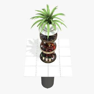 3D bar underground details model