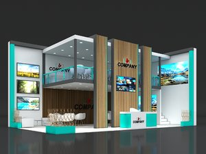 3D exhibit stand stall