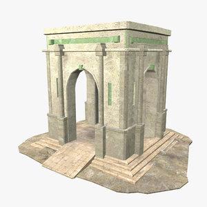3D roman building - model