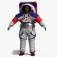 Spacesuit NASA Astronaut Artemis xEMU Rigged