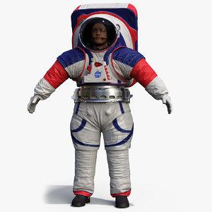 3D spacesuit nasa astronaut artemis