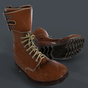 army boots legion modeled 3D model