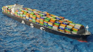 3D qaitbay container ship