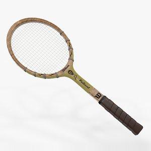 tennis racquet spalding jack 3D model