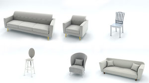 seating sofas chairs 3D model