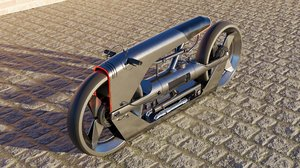 3D futuristic motorcycle