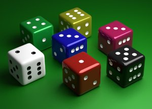 6 edged dices model