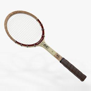 3D racquet tennis spalding pancho