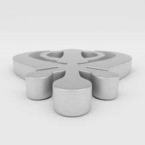 3D symbol sikhism model