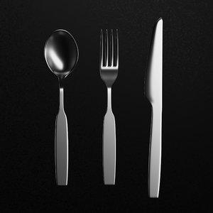 3D strelka cutlery model