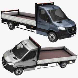 3D mercedes sprinter pickup model
