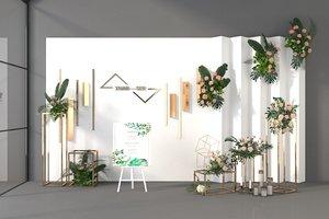 3D flower plants green