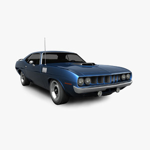 3D plymouth barracuda 1971