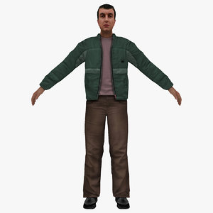3D model man people