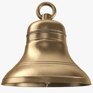 3D model real brass bell